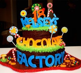 Willy Wonka Birthday Party Cakes.
