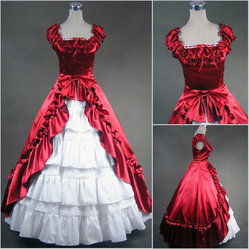 Custom Victorian Corset Dress Gothic/Civil War Ball Gown Lolita ...