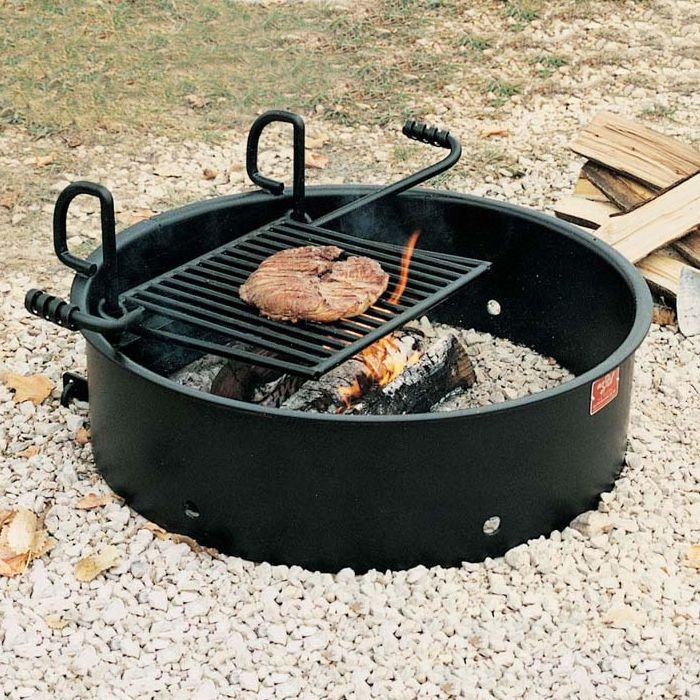 Fire Ring Grill With 9 Fire Ring Fire Pit Cooking Fire Pit Materials