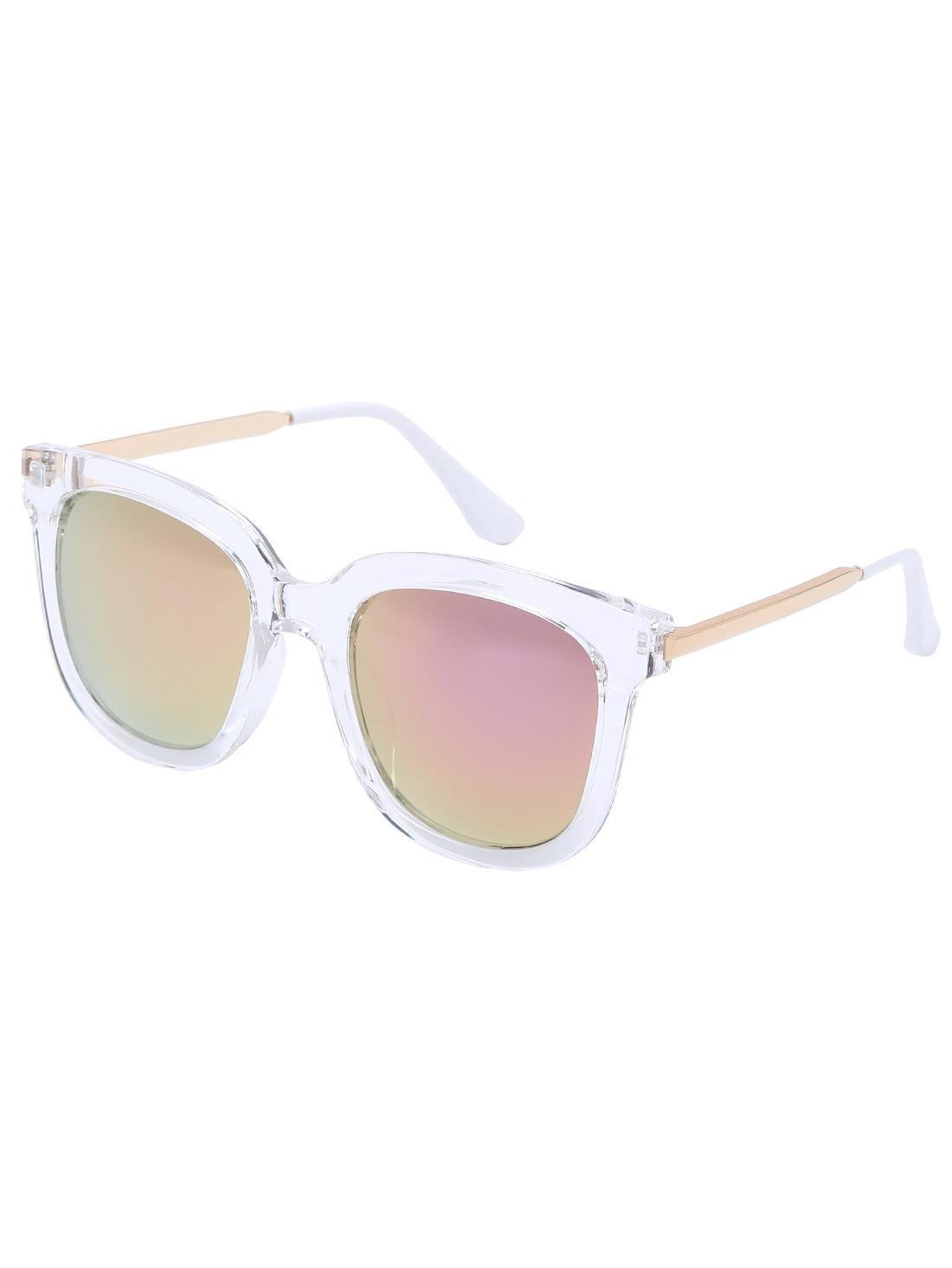 6e6803a264 Retro Pink Lenses Oversized Square Sunglasses