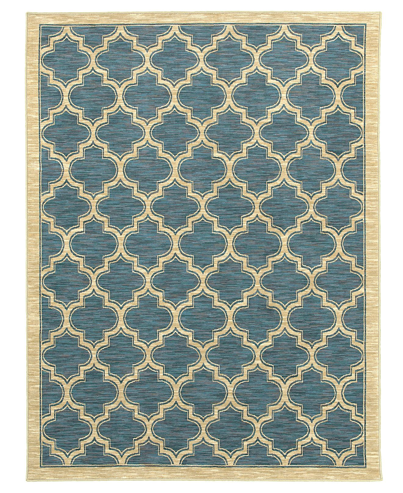 Shaw Living Area Rug, American Abstracts Collection 01400 Milazzo Blue  7u00279
