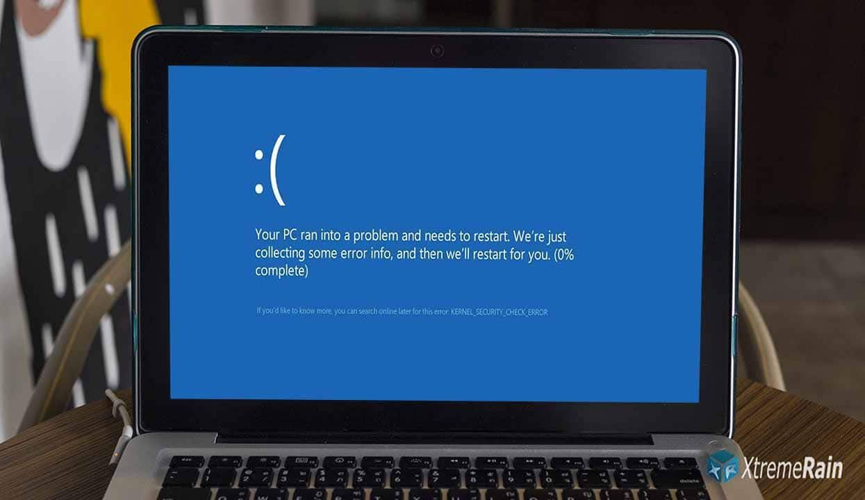 kernel security check failure in windows 8.1