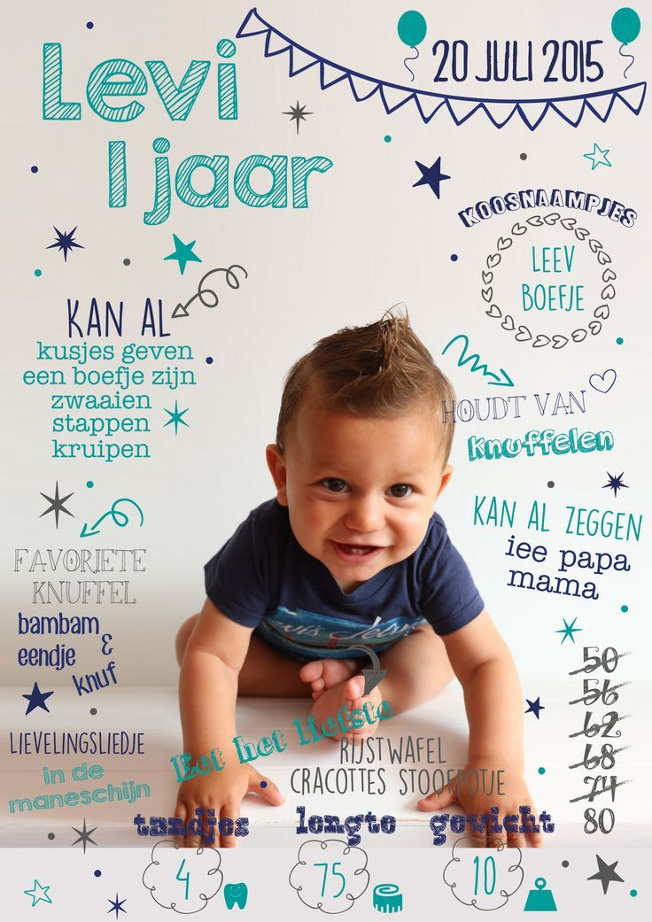 Super Pin van Astrid boelen op vince 1 jaar | Pinterest - Verjaardag, 1e  RF75