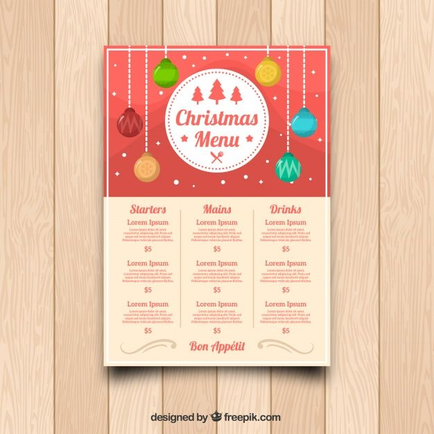 Christmas menu template Free Vector BEST FREE VECTOR RESOURCES - christmas menu word template