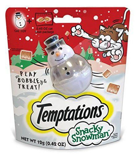 Need this:  Temptations Snacky Snowman Cat Toy and Cat Treats by Temptations