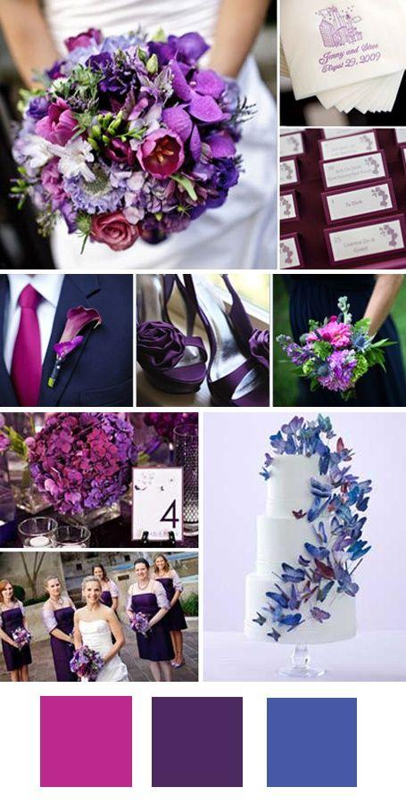 Violett wedding pinterest farb kombis strau e und for Selbstgemachte hochzeitsdeko