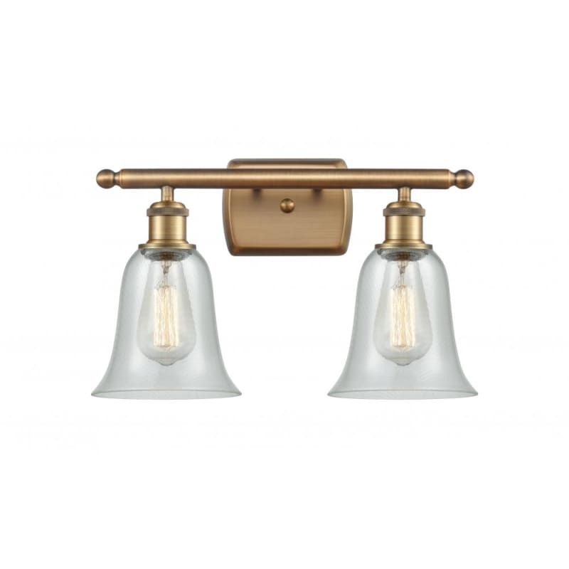 Photo of Innovations Lighting 516-2W Hanover Hanover 2 Light 16″ Wide Bathroom Vanity Lig Brushed Brass / Fishnet Indoor Lighting Bathroom Fixtures Vanity