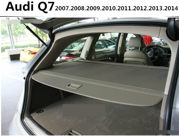 Car Rear Trunk Security Shield Cargo Cover For Audi Q7 2007 2008 2009 2010 2011 2012 2013 2014 High Qualit Auto Accessories Audi Q7 Audi Interior Accessories