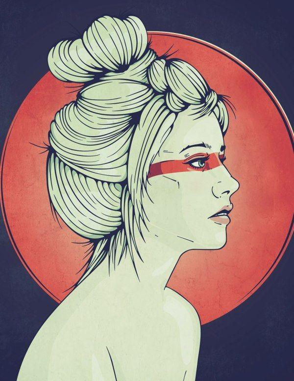 Vector Girl Illustration by Rick Calzi, via Behance