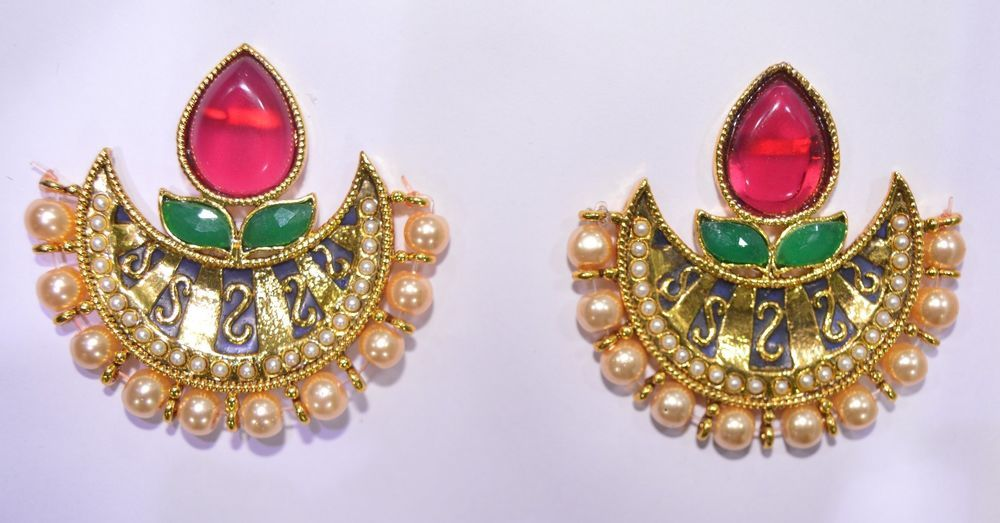 Bollywood Style Indian Jewelry Gold Plated Pearl Ruby Emerald
