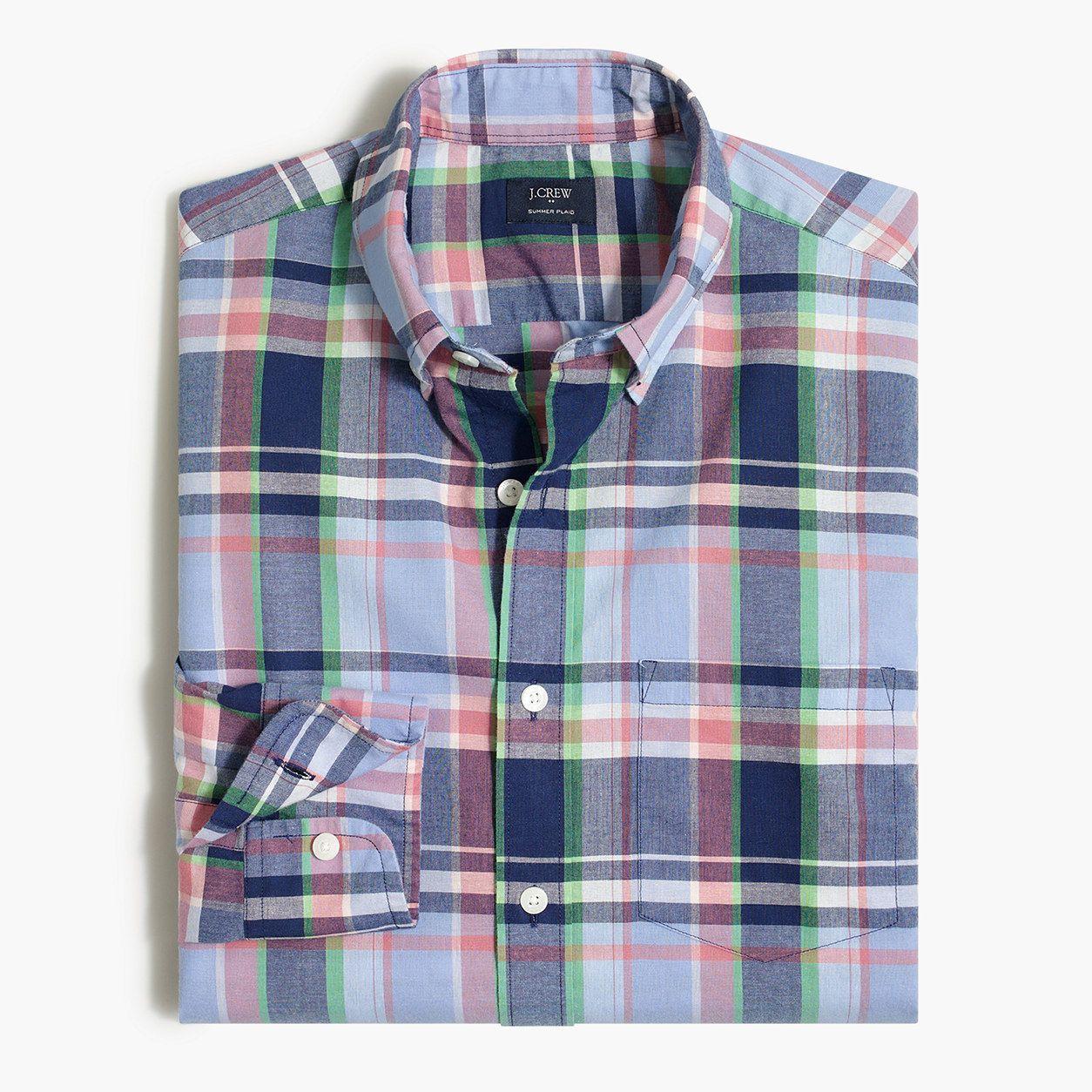 e6292a4456305f Factory summer plaid shirt : Summer Plaid | J.Crew Factory | Madras ...