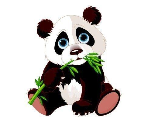 Wandsticker Panda Baby Craft Kid Stencil Ideas Pinterest