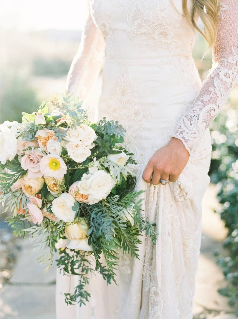 The most romantic of garden bridal sessions from Ojai, California by ...