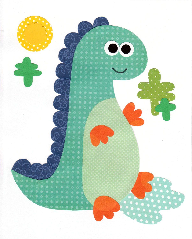 Dinosaur Nursery Artwork Print // Baby Room by
