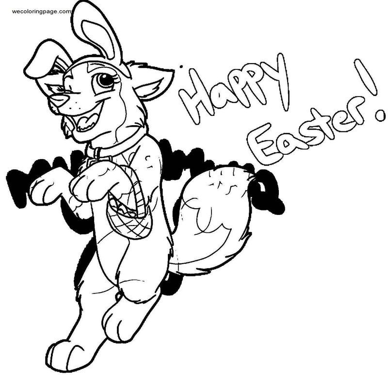 Here Comes The Easter Puppy Coloring Page di 2020
