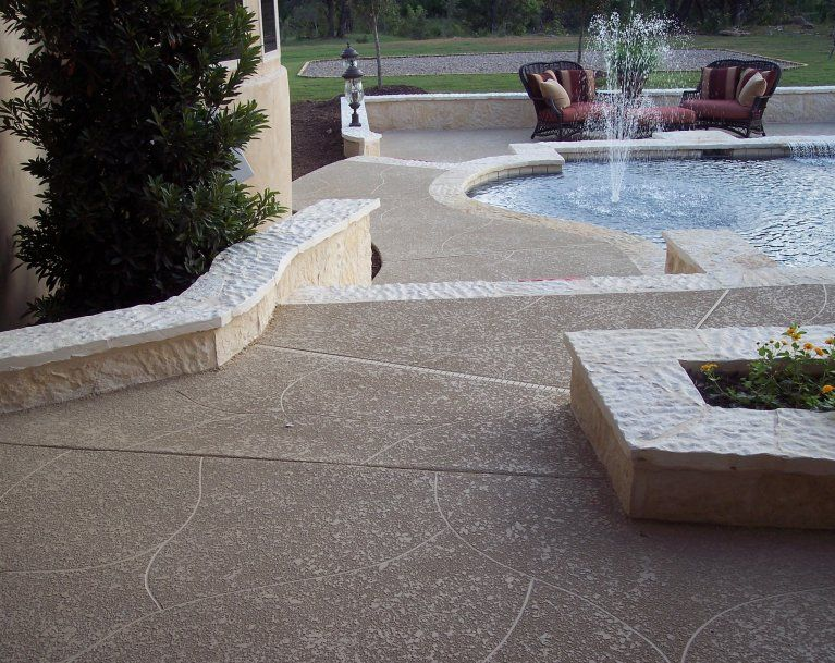 Cement Patio Finishes | Stained Concrete Patio