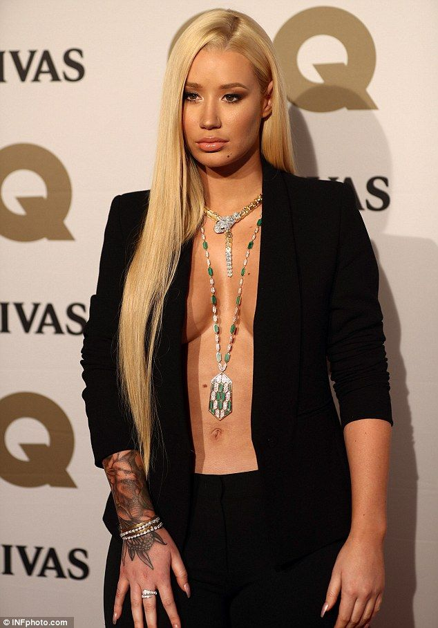 Iggy Azalea put her surgically enhanced boobs on display at the GQ men of  the year awards in Sydney 85cf9dd6fc830