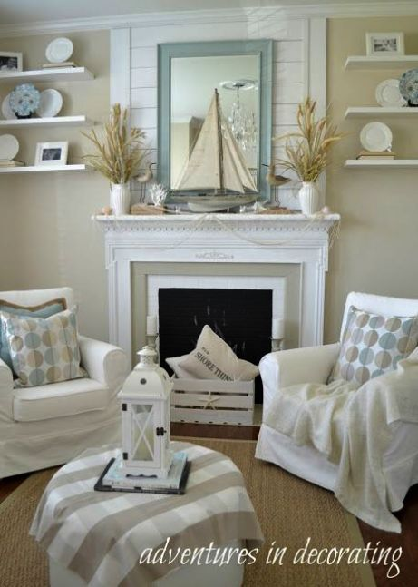 Beach house furniture and interiors myrtle coastal cottage style homes seaside bedroom living also charming small shabby chic room ideas rh pinterest