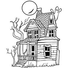 Top 25 Free Printable Haunted House Coloring Pages Online Free