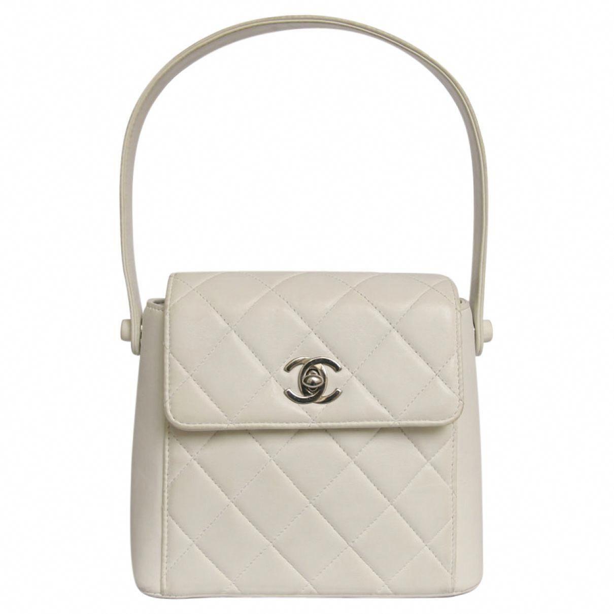 79fb5dcd2bb2 Chanel White Mini Bag | Vestiaire Collective #WomensShoulderbags ...