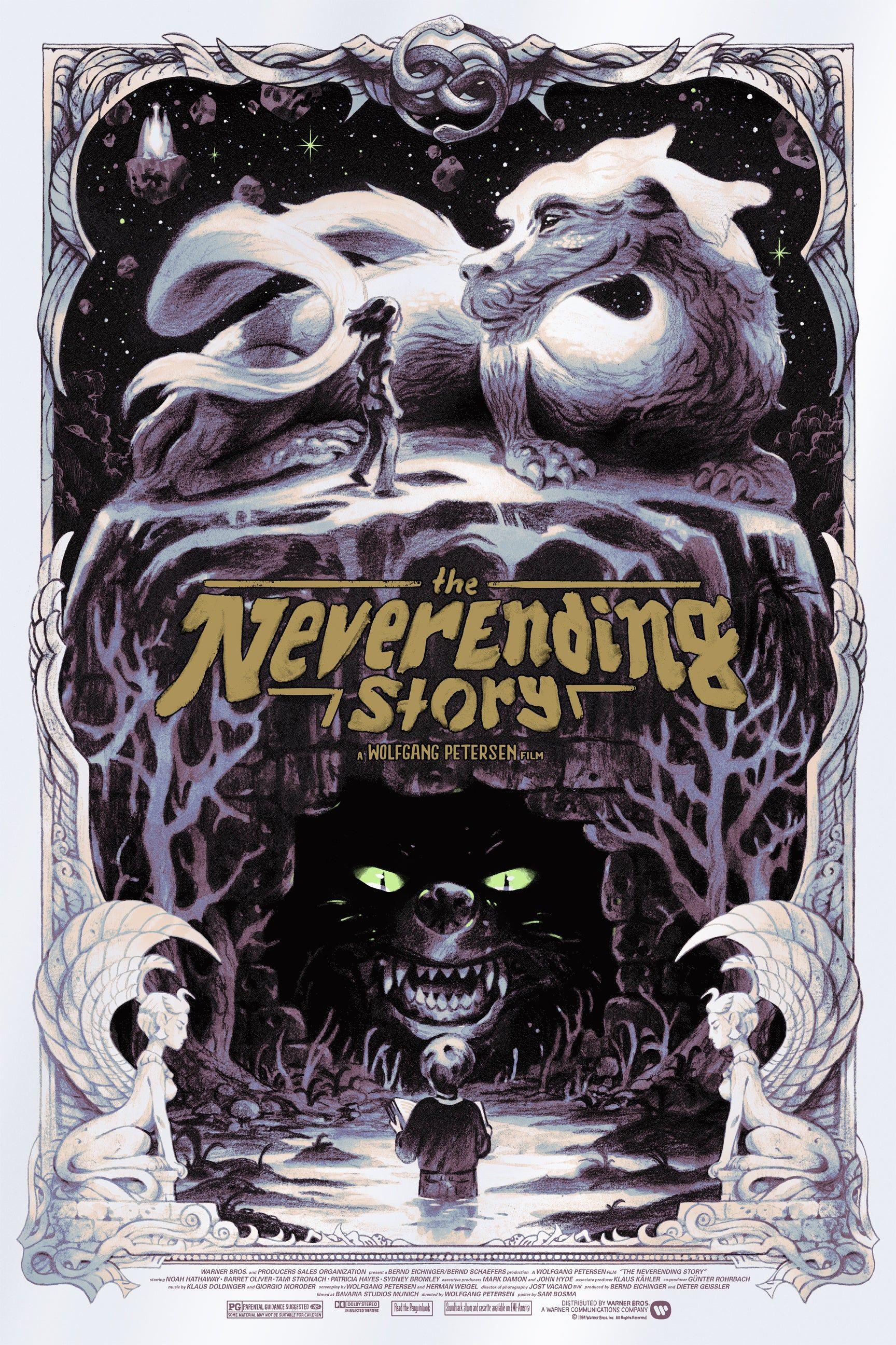 The Neverending Story 1984 17282592 By Sam Bosma Movie Posters Design Movie Poster Art Movie Posters Minimalist