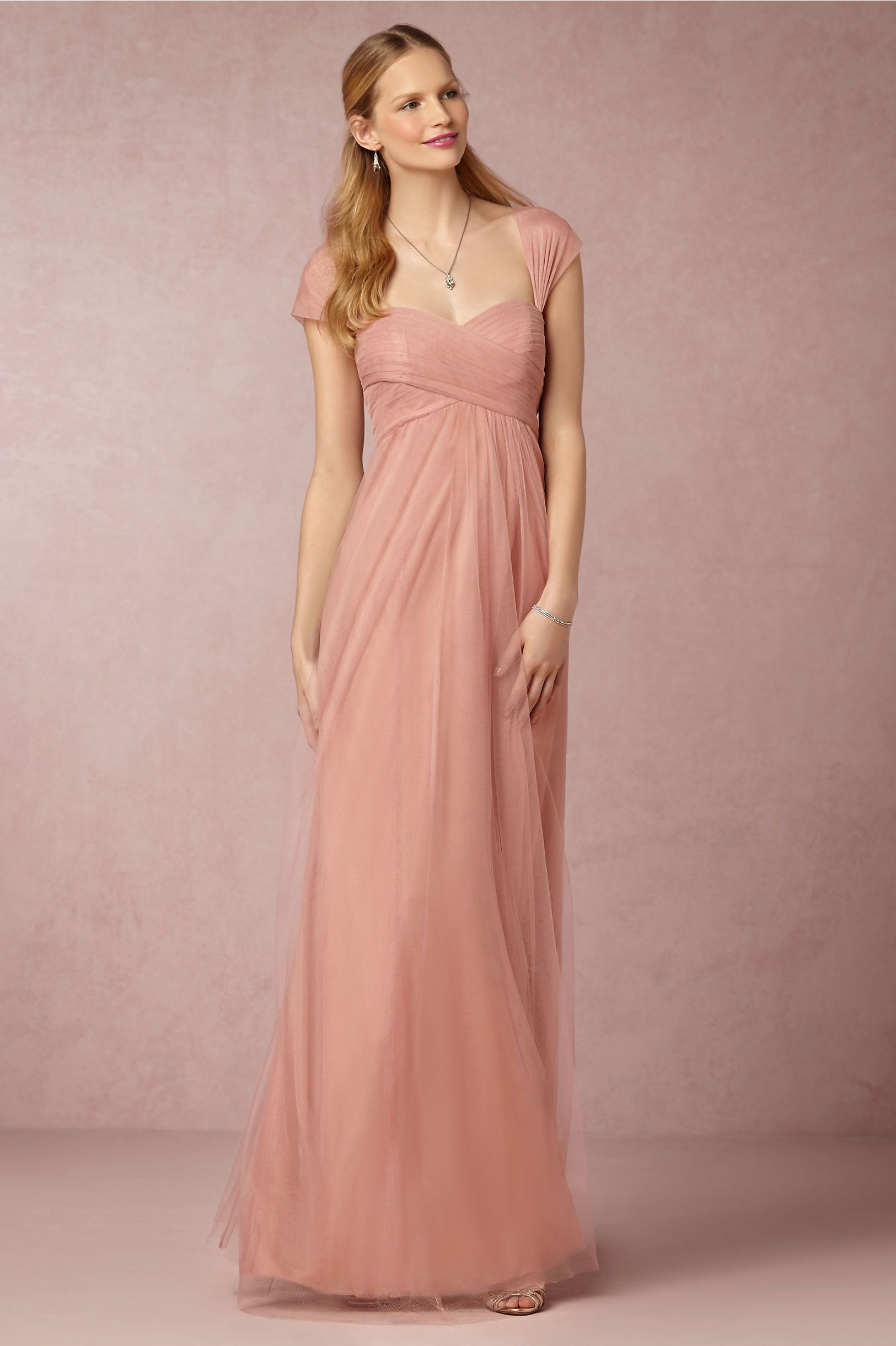 Willow Bridesmaids Dress in begonia pink from @BHLDN | Pastel ...