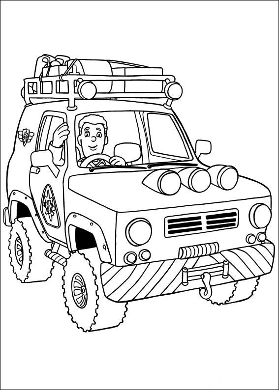 Fireman Sam Coloring Pages 14