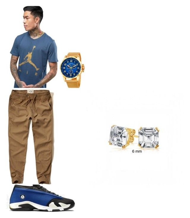 """EJ"" by eboneewillis on Polyvore featuring Jordan Brand, Hollister Co., August Steiner, Bling Jewelry, men's fashion and menswear"