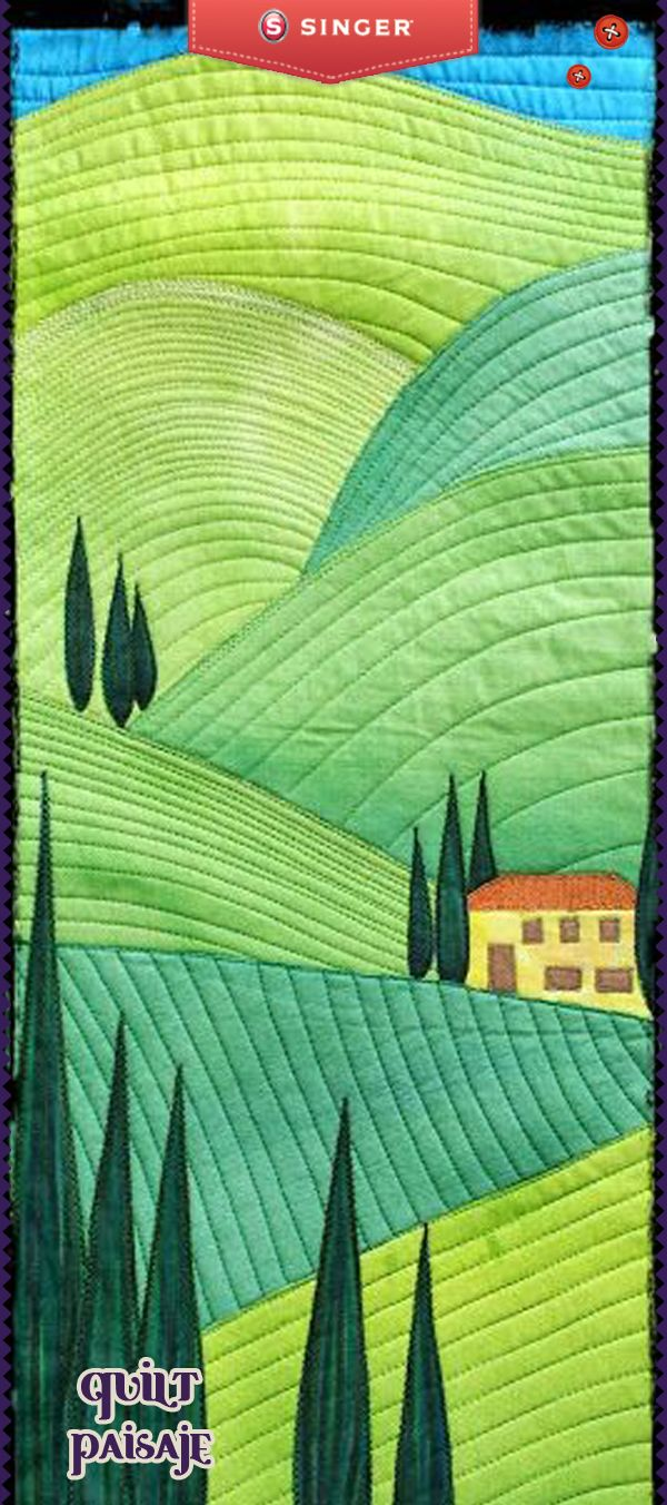 Un quilt de paisaje una obra de arte #yolohice #cuadros #Singer ...
