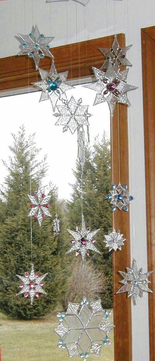 Stained glass snowflakes Stained Glass Pinterest Glass