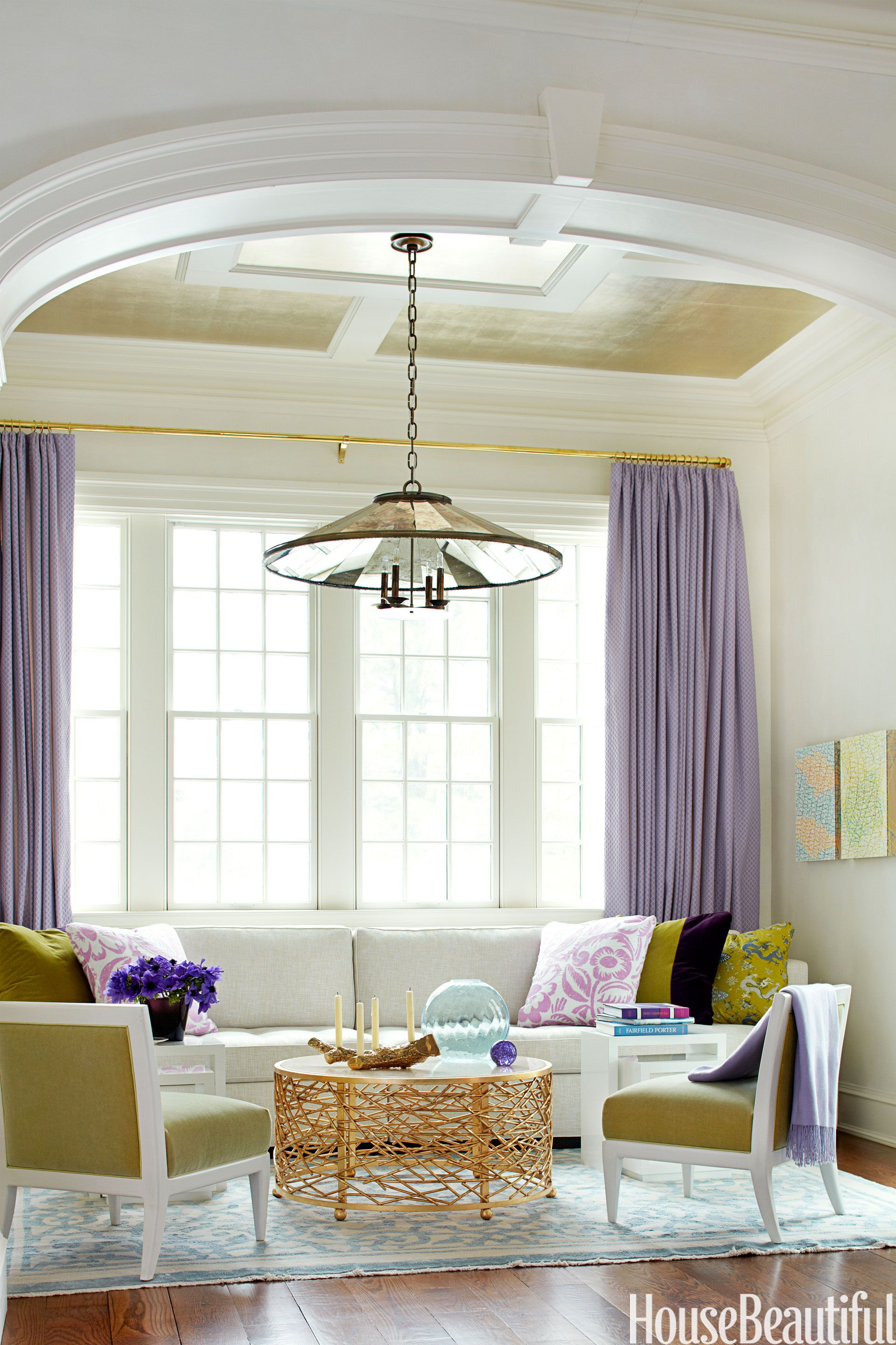 Happy living rooms bold colors nest and chandeliers