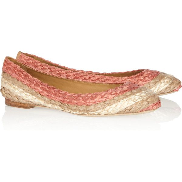 Chloé Raffia Round-Toe Flats cheap sale ebay 6V3h6LCA