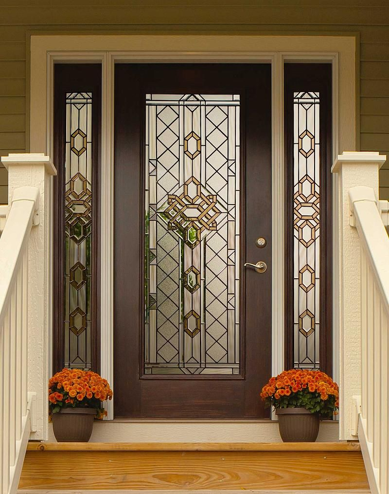 Great Design Beveled Glass Home Entry Door featuring Dark Brown . & Great Design Beveled Glass Home Entry Door featuring Dark Brown ...