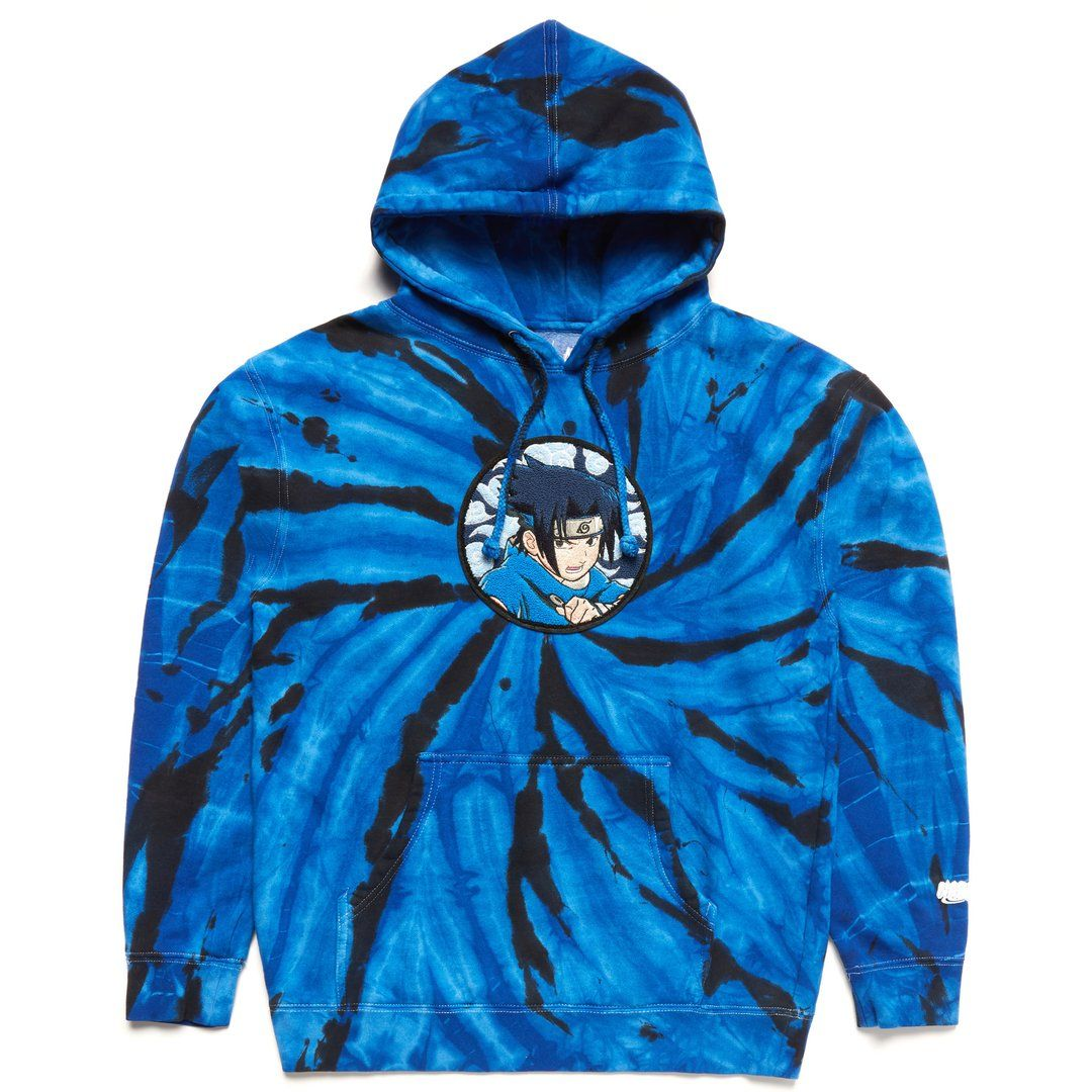 Hypland Naruto Sasuke Chenille Hoodie Blue Tie Dye Blue Tie Dye Hoodies Naruto [ 1080 x 1080 Pixel ]
