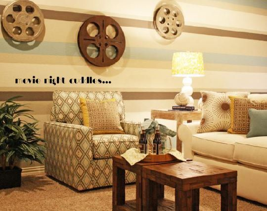 movie night cuddles- wall decal | Home Decor- wall decals ...