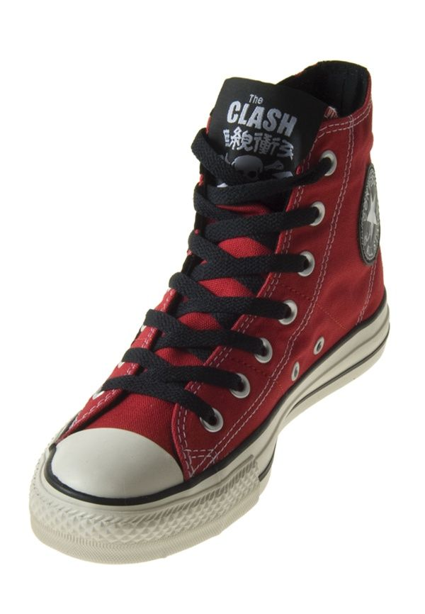 bb65c31a06a6 Converse Chuck Taylor All Star 114000 The Clash Red Black Hi Cut  79.99