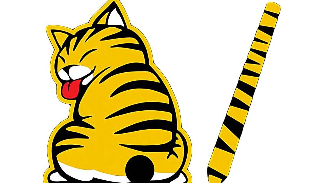 20 Gambar Kartun Kucing Lucu Bergerak Us 1 91 19 Off Dewtreetali Kartun Kucing Dekorasi Bergerak Stiker Ekor Auto Kendaraan Jende Kartun Gambar Kartun Gambar