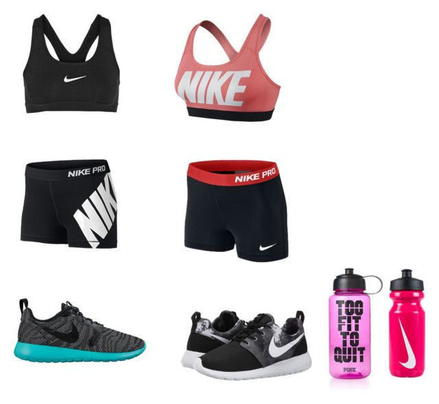 """Run"" by dogs109 ❤ liked on Polyvore featuring NIKE and Victoria's Secret PINK"