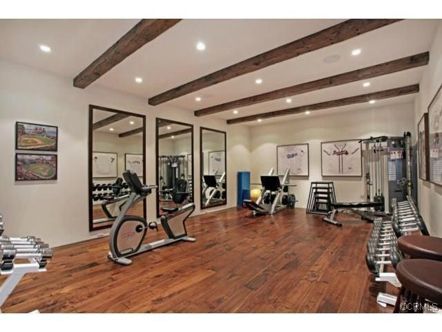 In Home Nice Sized Gym With Hardwood Floors Home Dream Home Gym Workout Room Home