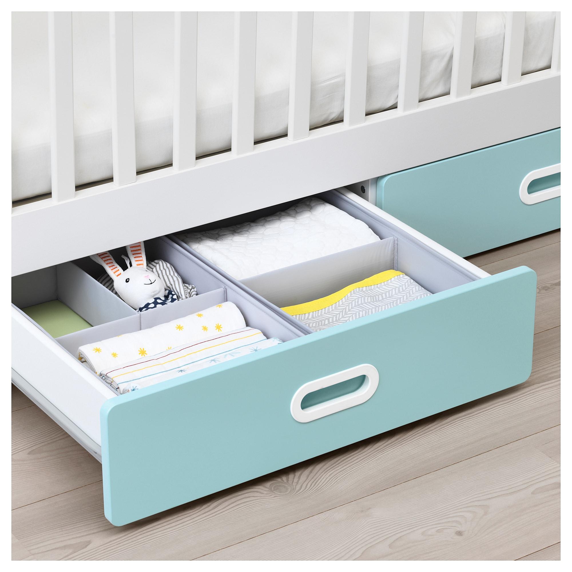 STUVA / FRITIDS Crib with drawers light blue IKEA