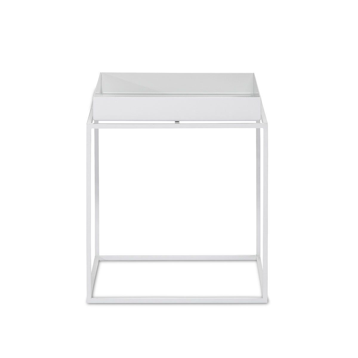 Hay Tray Table Small Weiss Metall Pulverbeschichtet Couchtisch Beistelltisch 30x30xh34 In 2020 Hay Tray Table Tray Table Hay Tray Side Table