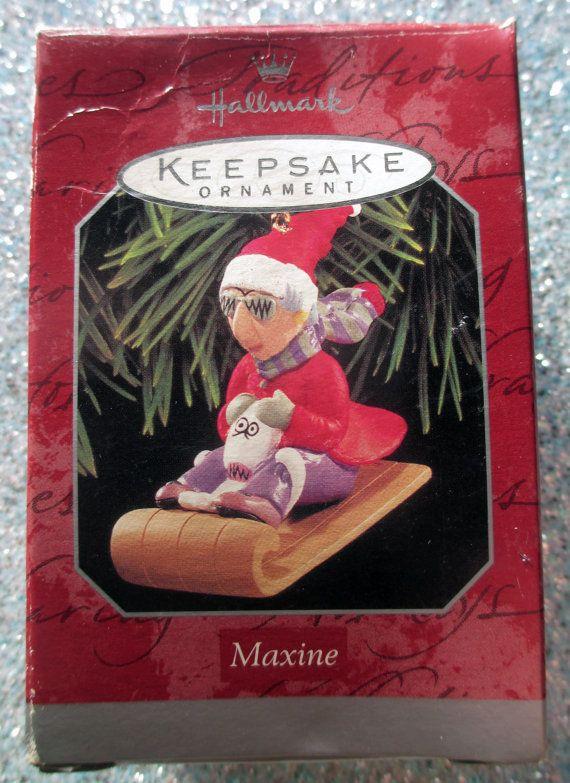 Hallmark Ornament Maxine Dog Floyd Toboggan by capecodsails Hallmark  Ornaments, Vintage Christmas Ornaments - Hallmark Ornament Maxine Dog Floyd Toboggan By Capecodsails