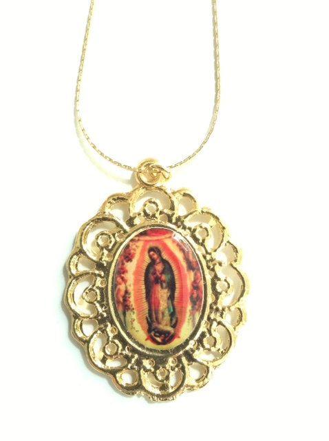 Lady of guadalupe gold pendant virgen de guadalupe medal gold virgin our lady of guadalupe gold pendant virgen de guadalupe medal gold virgin mary pendant our lady of aloadofball Images