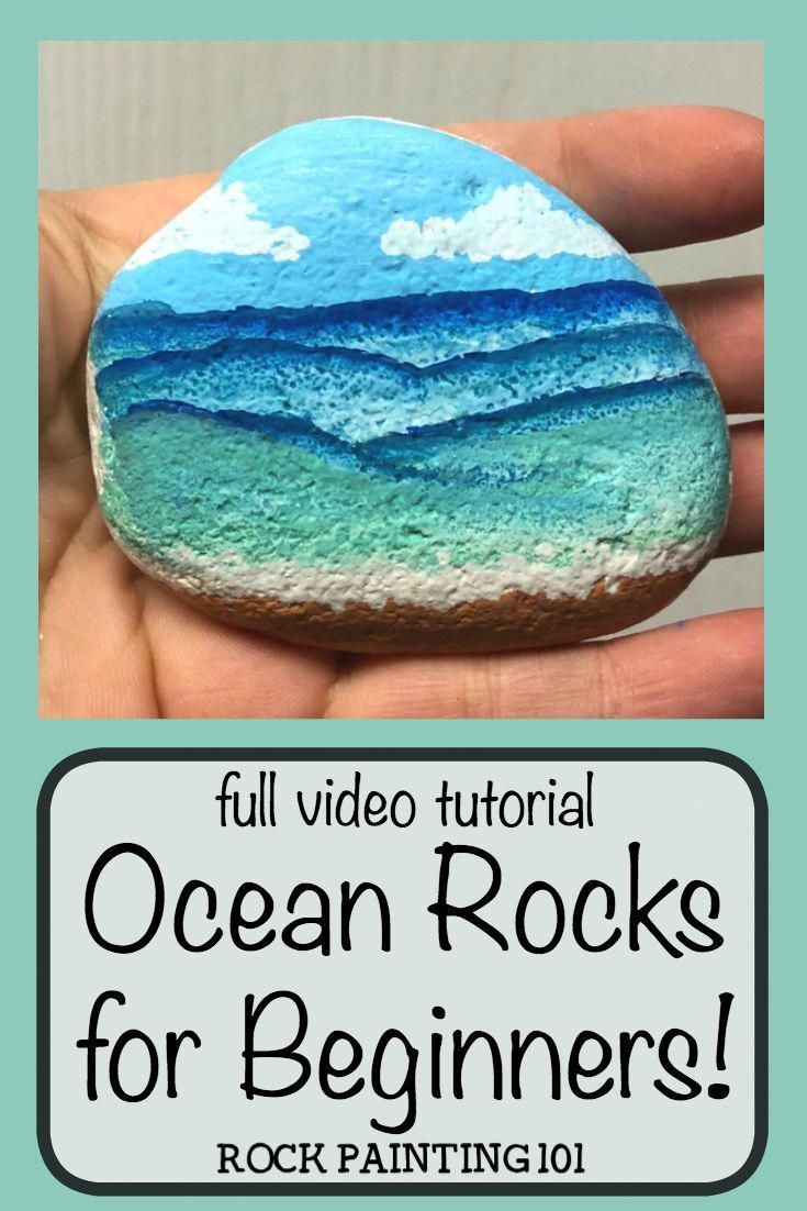 How to create beach painted rocks - Rock Painting 101