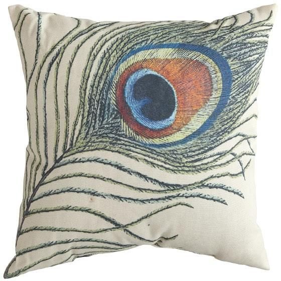 Peacock Throw Pillow. #peacock HomeDecorators.com