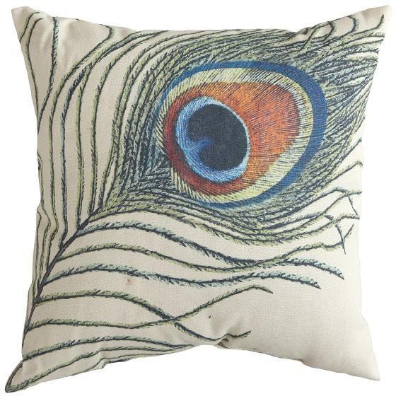 Peacock Throw Pillow. #peacock HomeDecorators.com