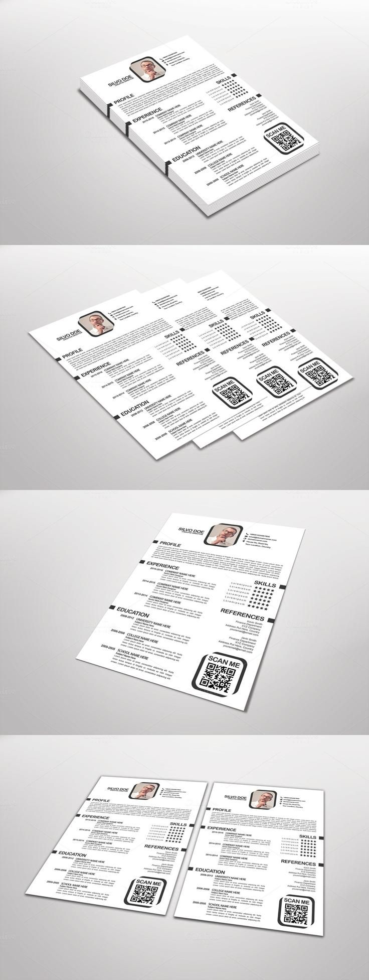 Pin de designspiration en Corporate Resumes & CVs | Pinterest