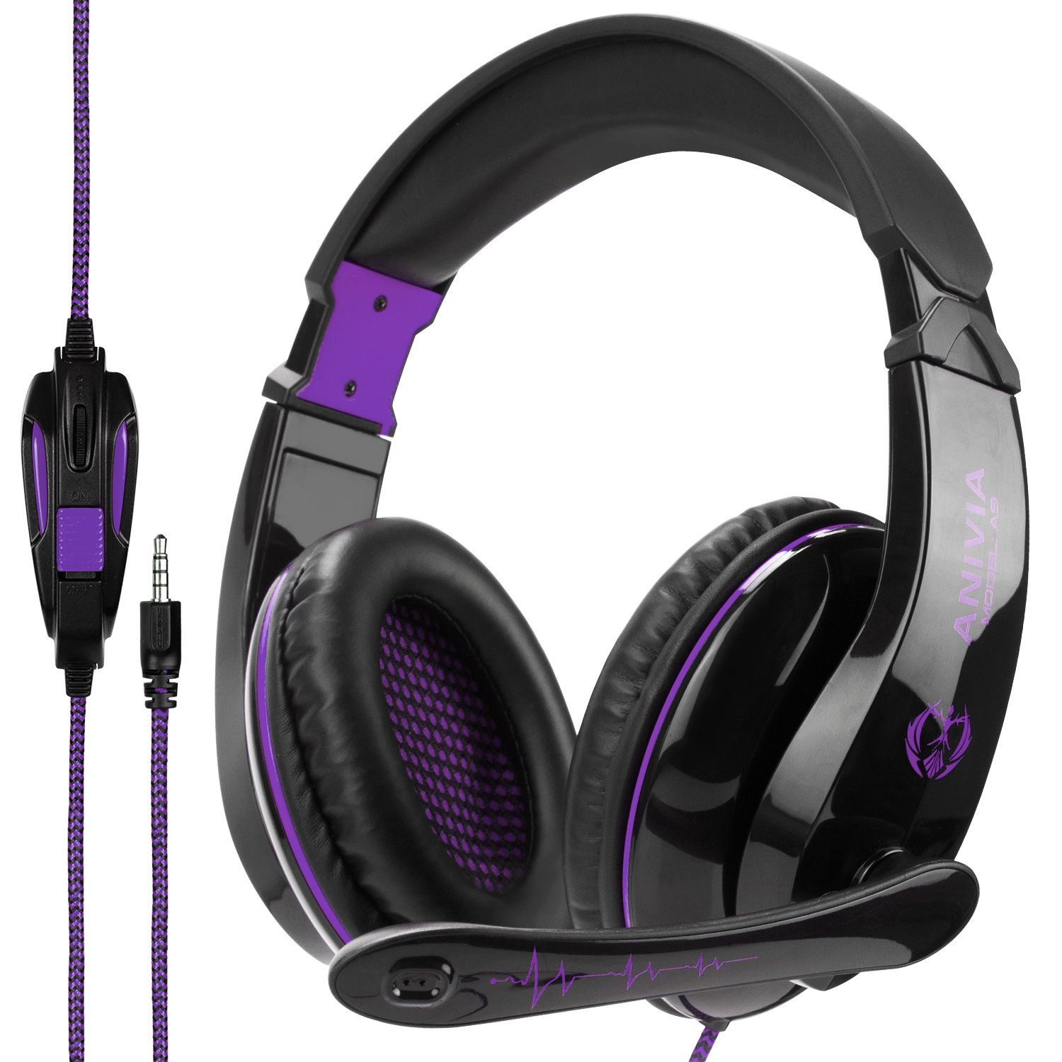 su Black Gaming Earphone One-ear Gamer Headset Wired Headphone with Mic for PS4