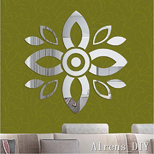Alrens_DIY(TM)14 pcs Parts=1 Ethnic Flower DIY Mirror Effect ...