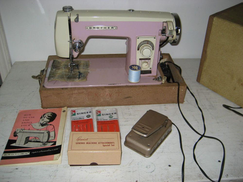 Vintage Brothers Sewing Machine Super Streamliner 40 Hard Case Stunning Vintage Brother Sewing Machine Manual